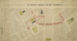 Drawn Plan of the Property around Leicester Square